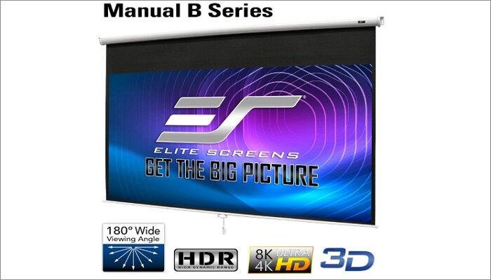 Elite Screens Manual B 100-INCH