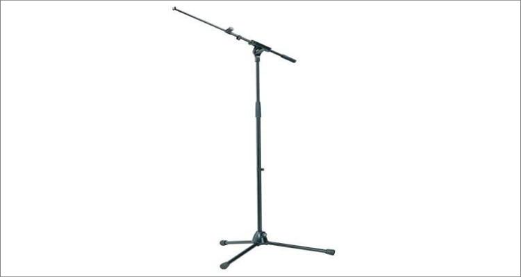 K&M 210/8 Telescoping Tripod Microphone Stande