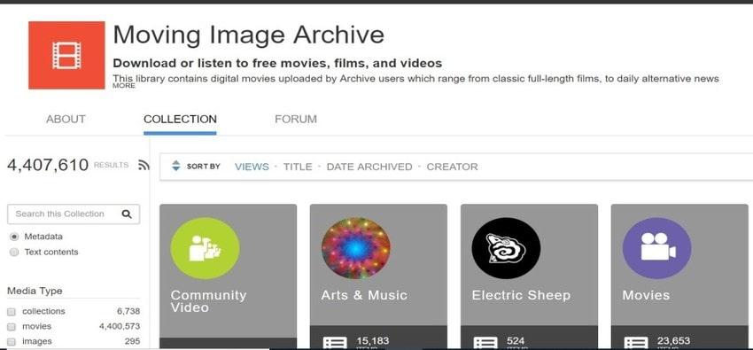 Free Video Sharing Plarform-Internet Archive