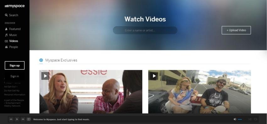 Free Video Sharing Platforms-MySpace