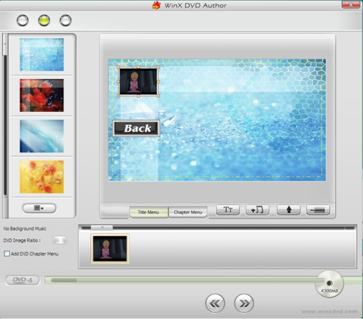 burn video dvd with winx DVD author