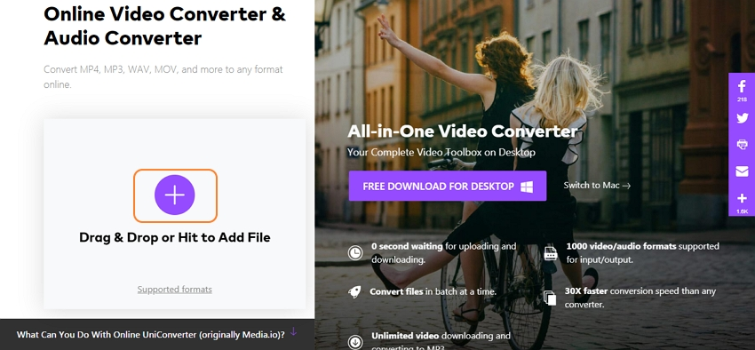 turn video dvd with online uniconverter