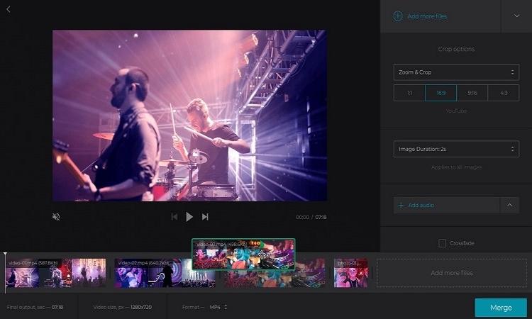 add audio to video online