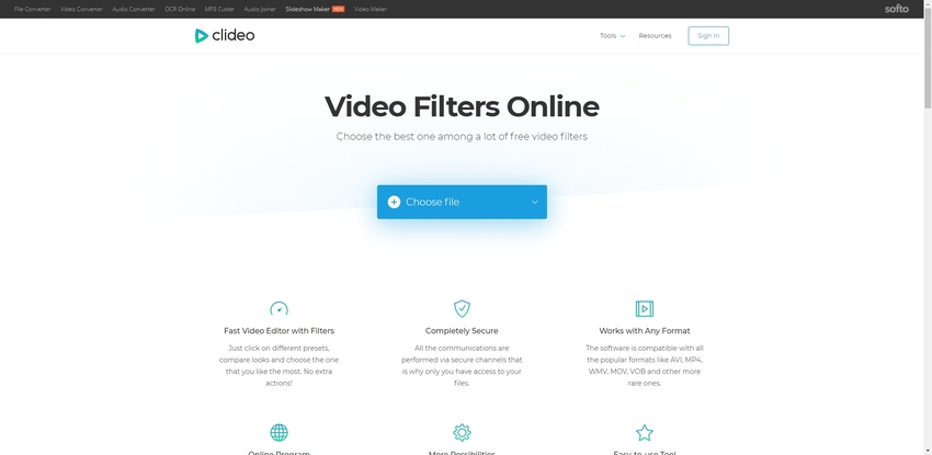 Add Effect to Video Online-Clideo