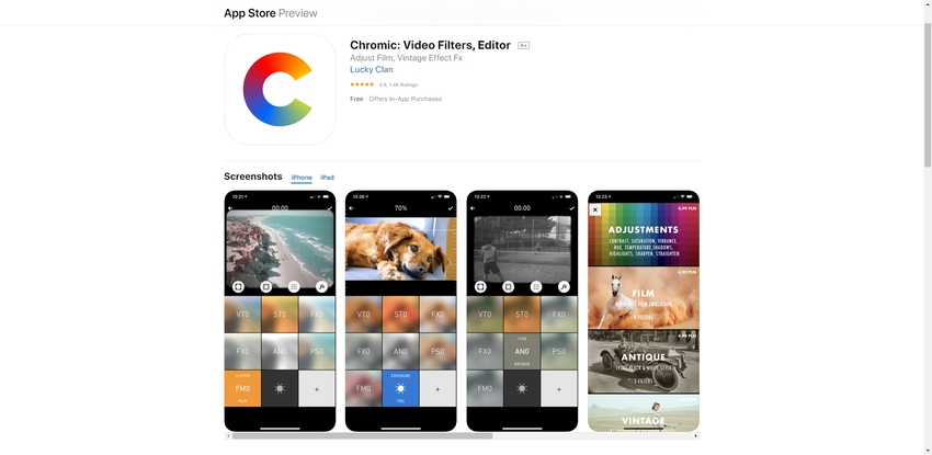 Add Filters to Video-Chromic