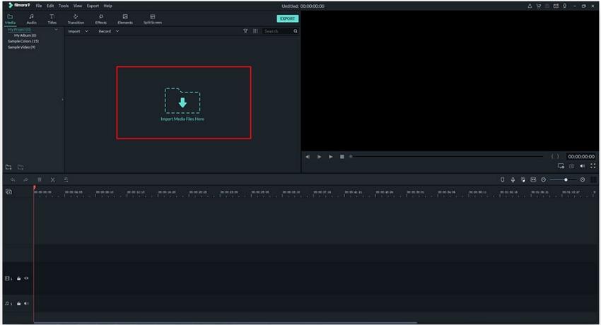 Add Video File to Filmora