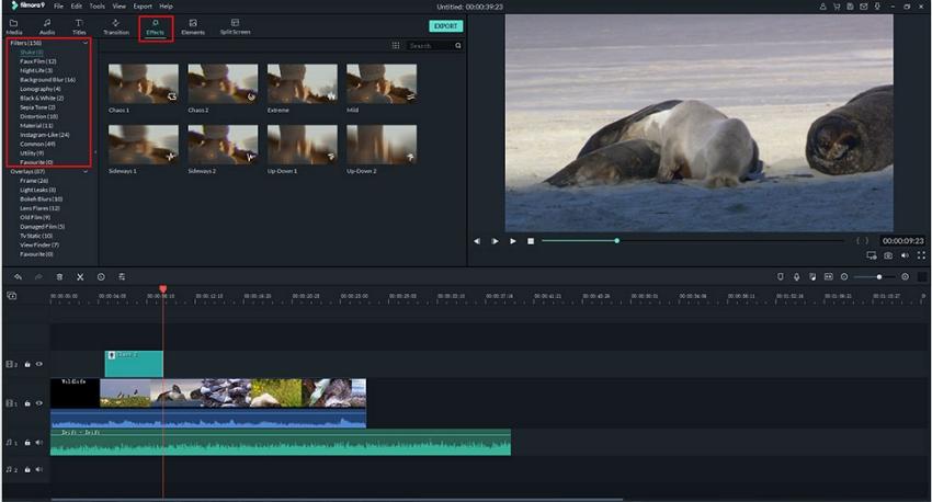 Add Filter to Video in Filmora