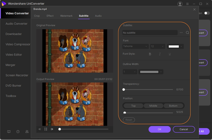 Add Text to Video in UniConverter
