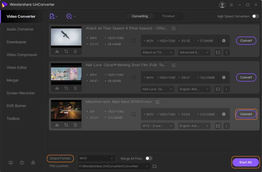 Save the Video with Text in UniConverter