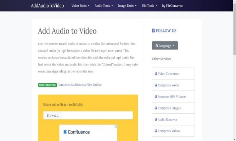 add audio to video online editor
