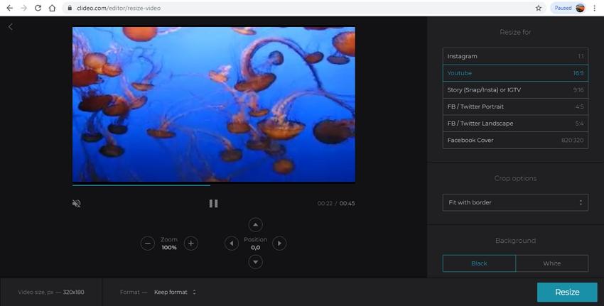 Change Video Resolution Online-Clideo