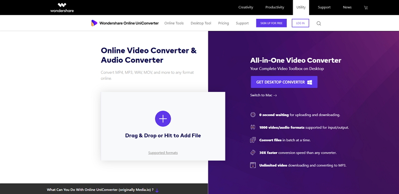 Change Video File Size-Online UniConverter