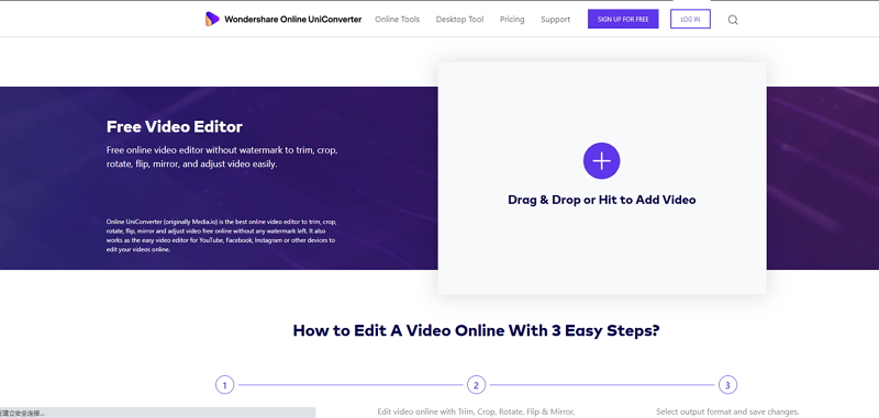 Crop MP4 Video-Online UniConverter