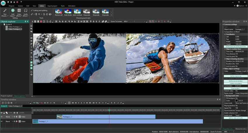 FLV Cutter-VSDC Free Video Editor