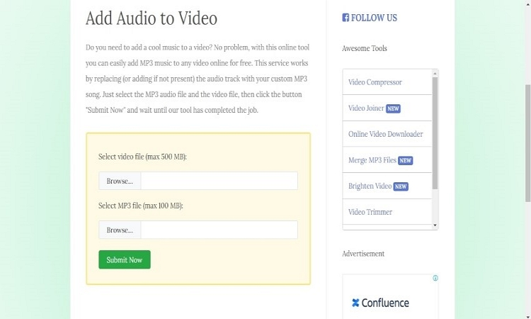 add audio to video free online