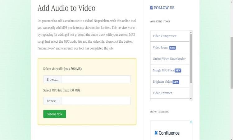 audio to video online