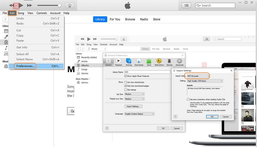 convert M4B to MP3 with itunes-steps