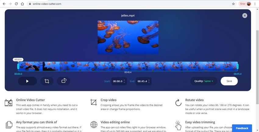 best free mp4 editor-Online Video Cutter