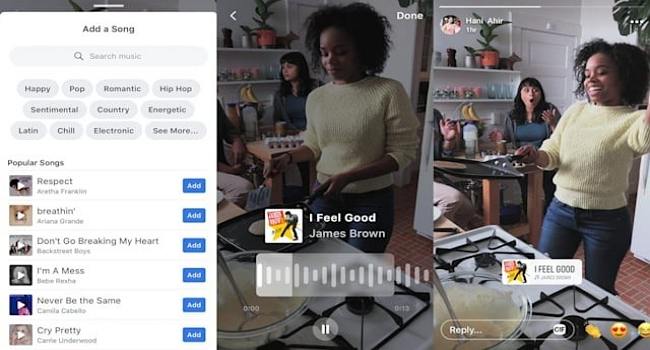 how to add music to facebook video