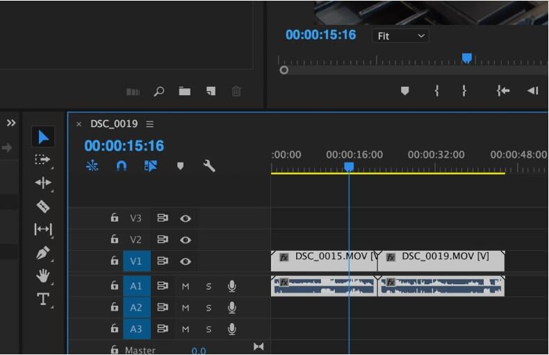 mute video in premiere pro - step2