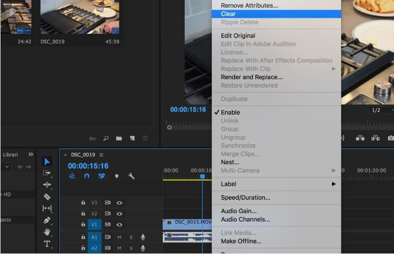 mute video in premiere pro - step4