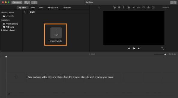 mute video imovie - step2