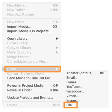 mute video imovie - step6
