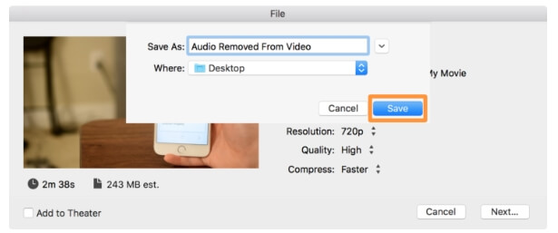 mute video imovie - step7