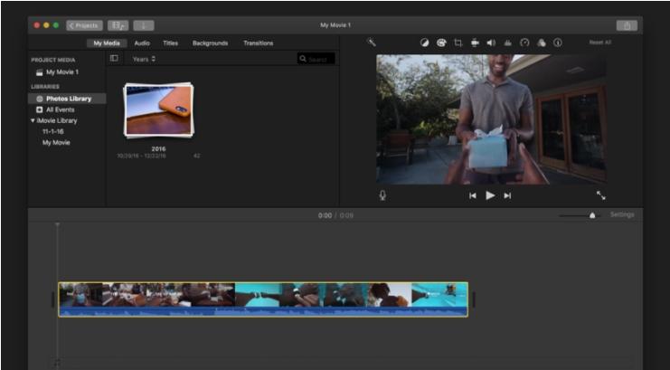 remove audio from video mac imovie