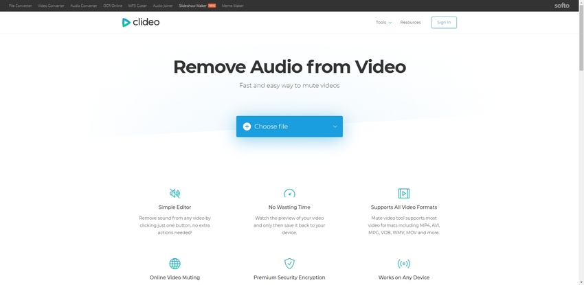 Remove Audio From MP4 File-Clideo