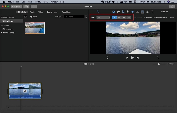 make slow motion with imovie