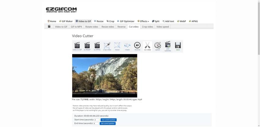 trim MP4 online-EZGIF
