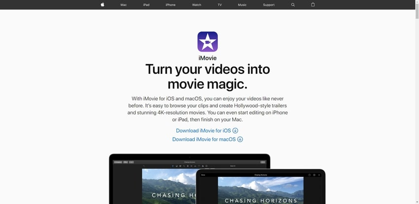 iMovie Video Editor-Crop Videos