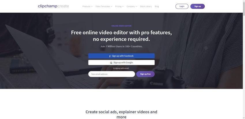 Free Online Movie Editor-Clipchamp
