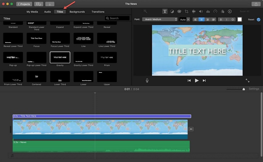 Free Video Editing Software-iMovie