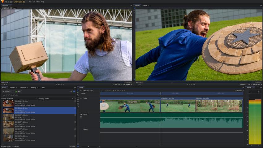 Free Editor Video Windows-HitFilm Express