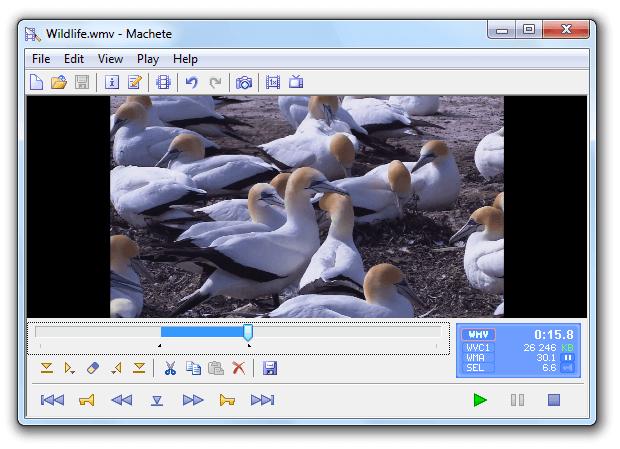 Editing Video Windows-Machete