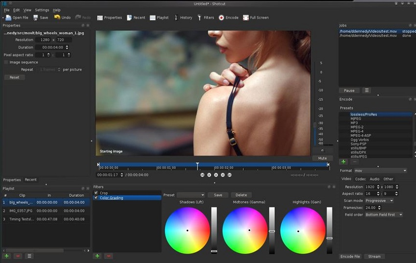 Free Movie Editing for Windows-Shotcut