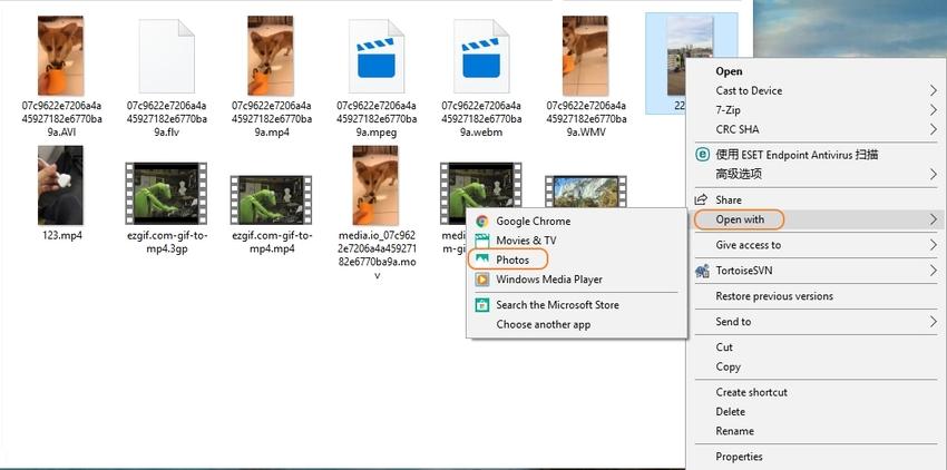 Open Video in Photos App