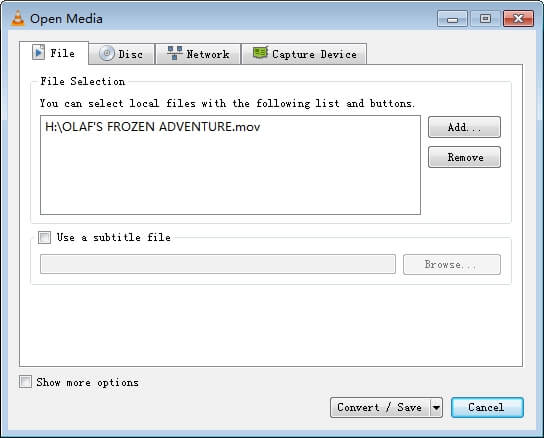 vlc convert mkv to mp4 step 2