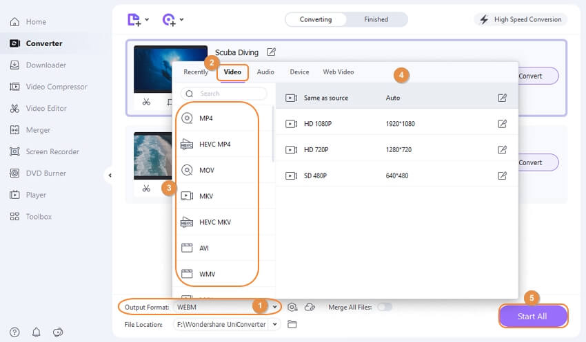 click convert button as save in UniConverter