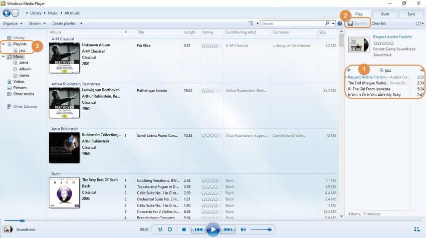Windows Media Player add music