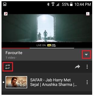 youtube loop playlist