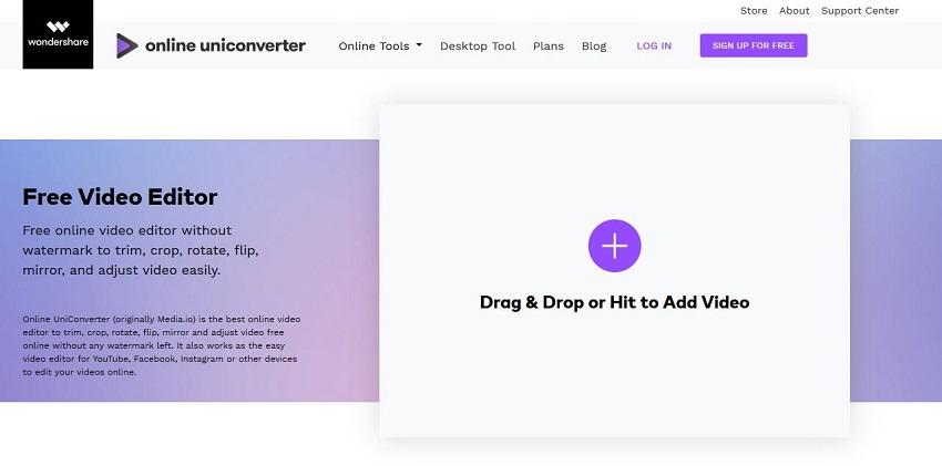 Youtube Online Editor Free-Online UniConverter